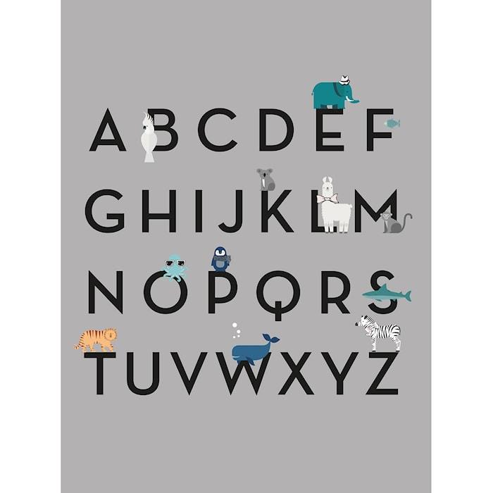 Barn Poster, Engelsk ABC
