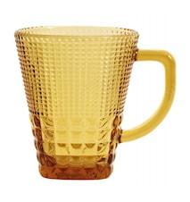 Glas med håndtag, col. amber