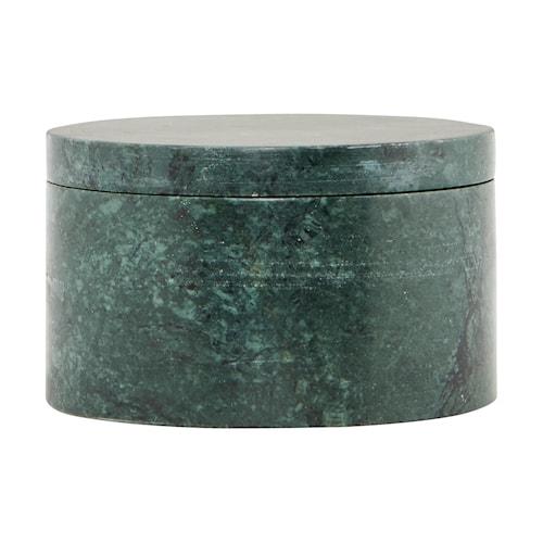 Opbevaringsbeholder Marble Ø 10x6 cm - Grön