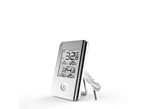 Værtermometer Ute/inne Aluminium
