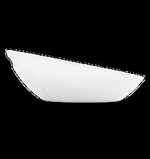 GC Brødkurv, hvid, melamin, inkl. dug, tågegrå