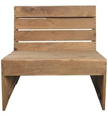 Loungestol Woodie 66x70 cm Trä