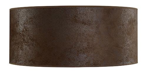 Cylinder Lampskärm Large Brown Suede