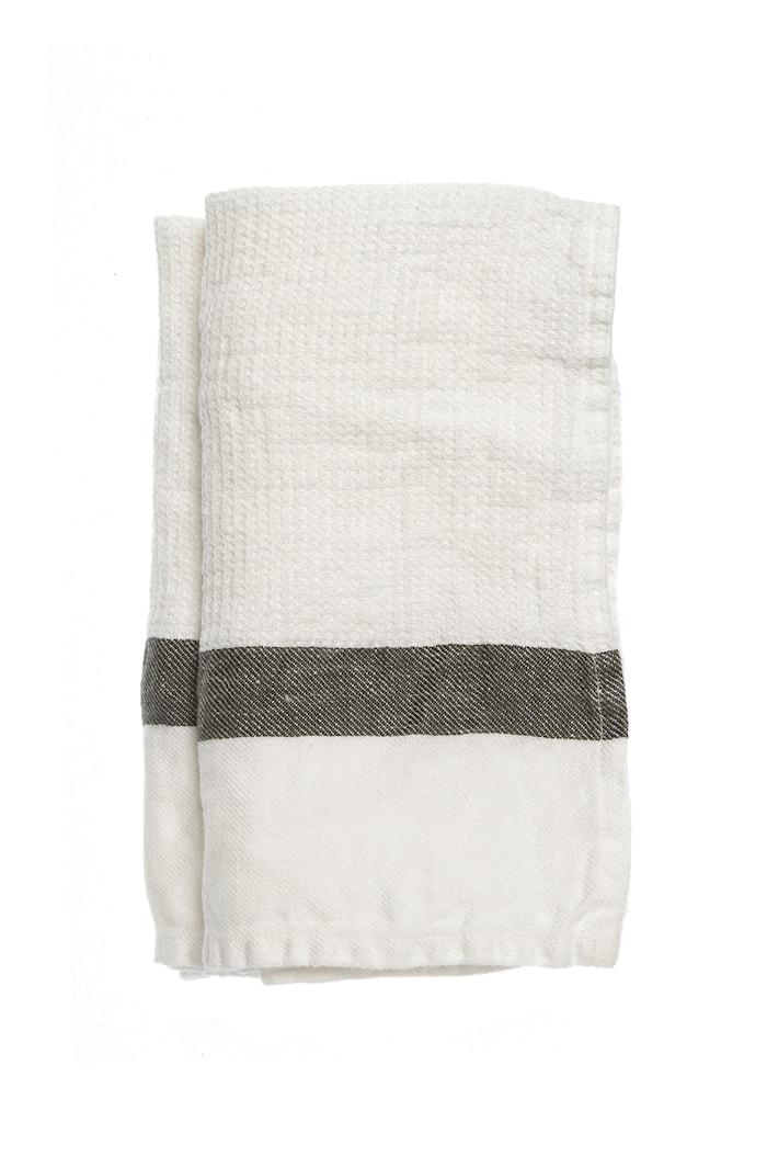 Handduk The Stripe kohl/white 47x65