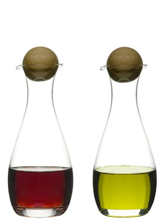 Oval Oak Olja/vinägerflaskor Ekkork 2-pack