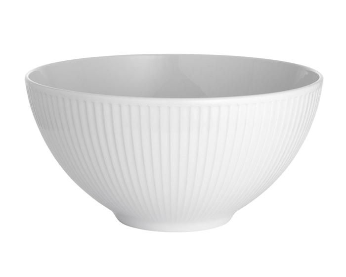 Plissé skål hvit, 3,3 liter Ø 25 cm