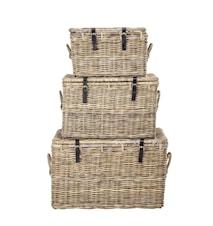 Picknick/Förvaringskorg Rattan 3 st