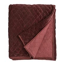 Sängöverkast Quilted 220x270 cm - Röd
