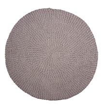 Crochet Matta Grå Ø80 cm