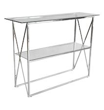 Cross Konsolbord, 110x35, blankt krom