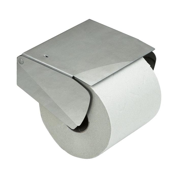 Solid Toiletpapirsholder m.lås rustfri
