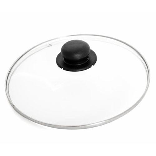 Glaslåg med stålkant 24 cm