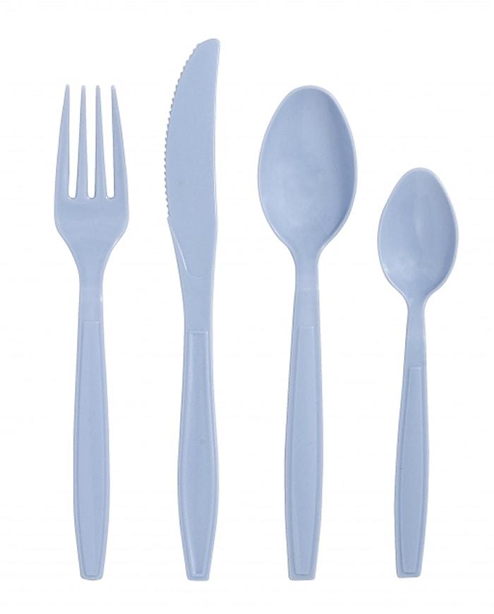 Harlekin Engångsbestick 4 delar Blå