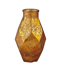 Vase - Glas - Amber - Metallic - H 16,0cm - L 9,0cm - B 9,0cm - Stk.