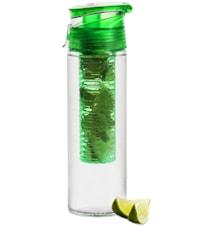 Fresh flaske med frugtstempel låsbar, grøn