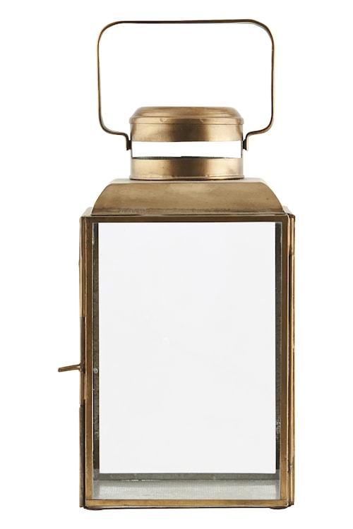 Lysholder Vintage 14x14x26 cm - Messing