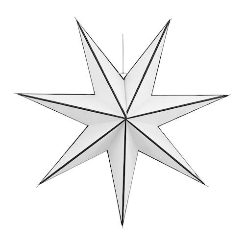 Julestjerne Stroke Ø 60 cm - Hvit/svart