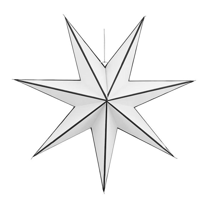 Julstjärna Stroke Ø 60cm Vit/svart