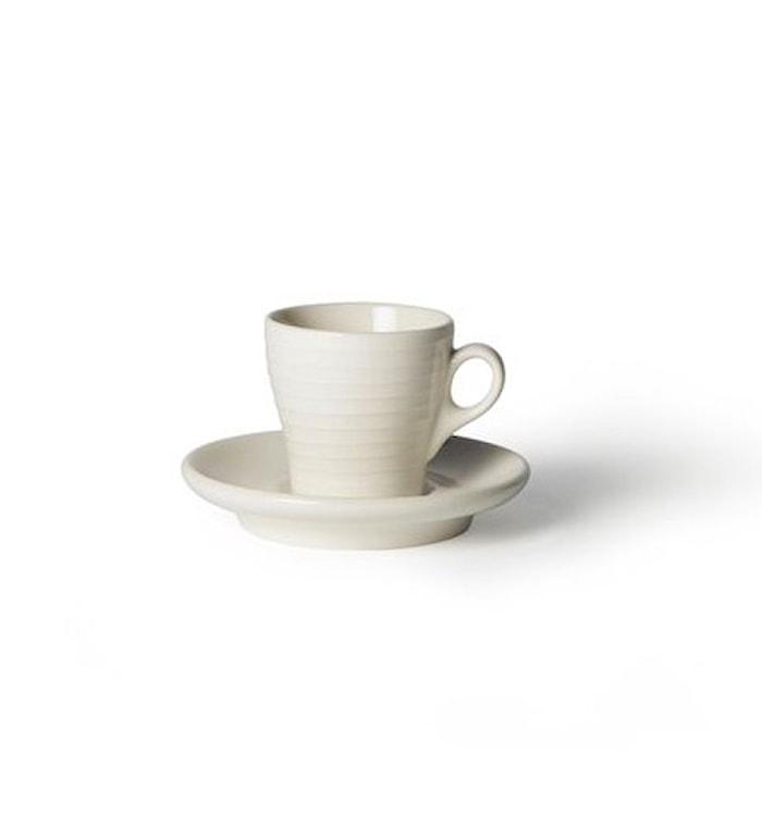 Blond Kopp med fat Espresso Vit/Rand