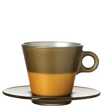 Kop Cappuccino Guld