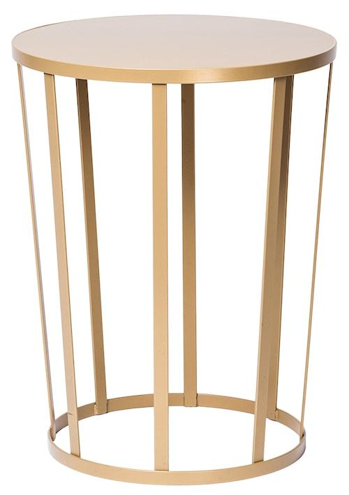 Hollo sidobord/stool - guld