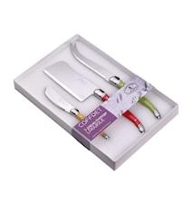 Ostesæt Laguiole 3 Stk. Blandede farver hvid Box