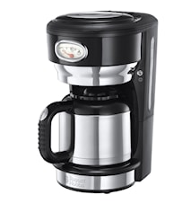 Retro Thermal Kaffebryggare Svart