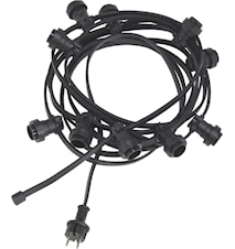 Bright light string Black 7m
