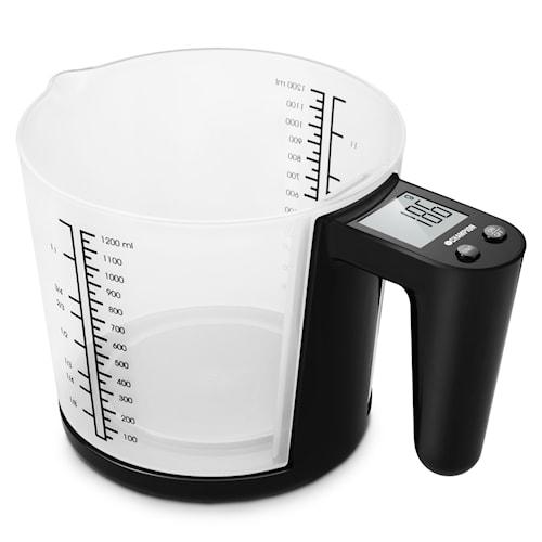 Kjøkkenvekt med Målebeger, 3 kg