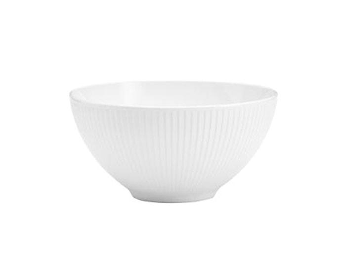 Plissé skål hvit - 20 cm