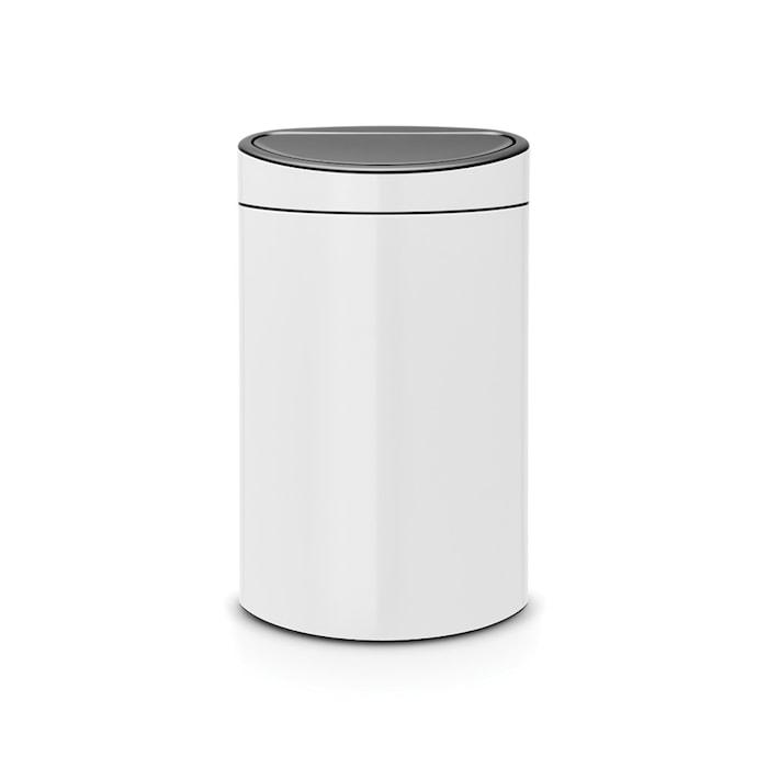 Touch Bin, plastinderspand 40 L Hvid