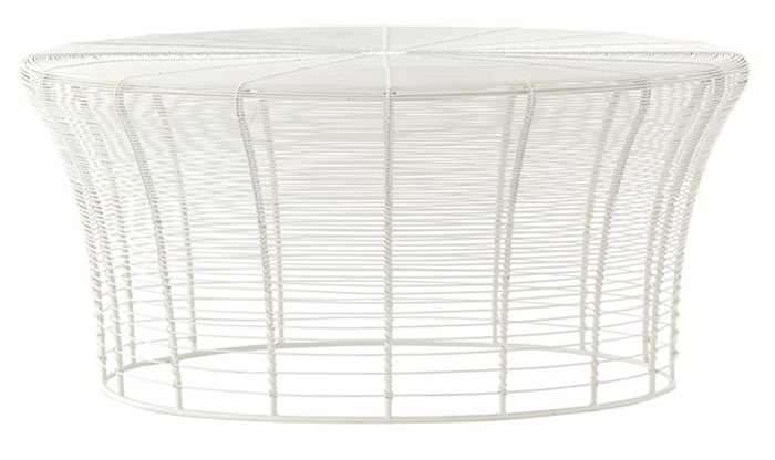 Aram sofabord - Lavt, hvitt