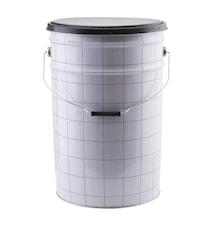 Förvaringspall The bucket Ø 30x46 cm - Vit