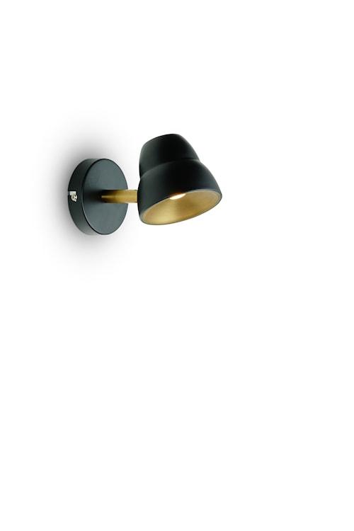 Fico vägg mässing/svart LED