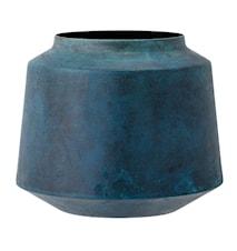 Vase Blå Metal 13,5x18cm