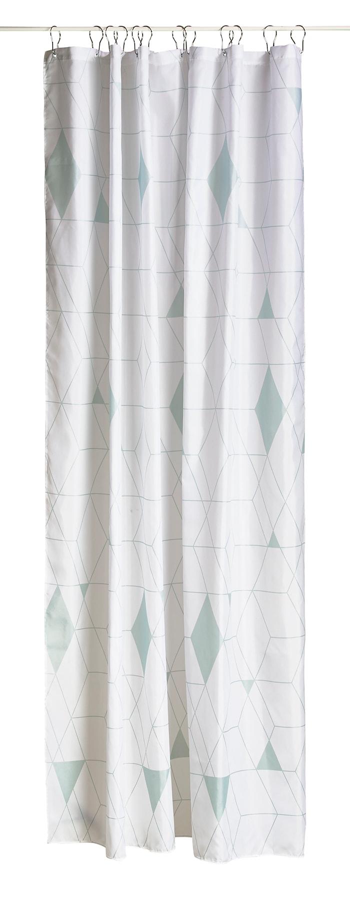 Dusjforheng - Dust Gråen - Stk. - Harlequin - Polyester - 80 g - L 200,0cm - B 180,0cm- Hvit