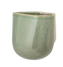 Wall Flowerpot, Green, Stoneware