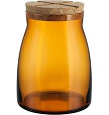 Burk med korklock 1,7 liter Bärnsten