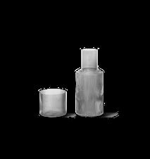 Ripple Liten Karaff med glas Smoked Grey