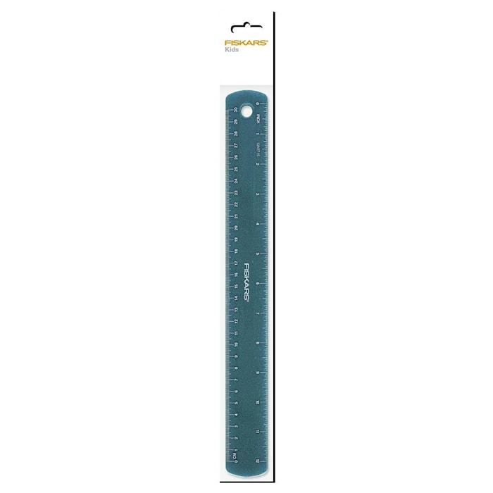 Barnlinjal Glitter blå 30 cm