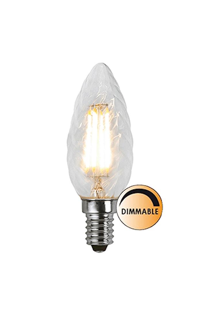 Lyskilde LED Filament Kron Vridd Klar 3,2W Dimbar E14