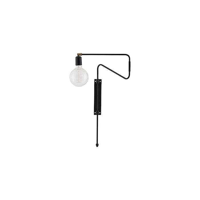 Vägglampa Swing 35cm Svart