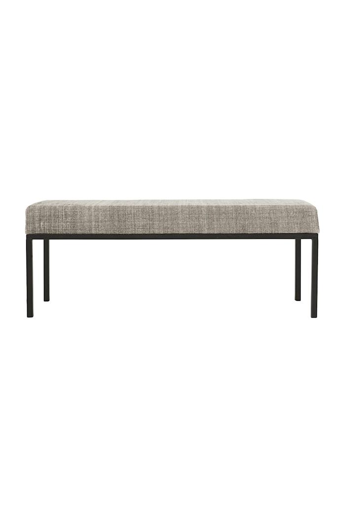 Greys benk 120 cm - Grå/Svart