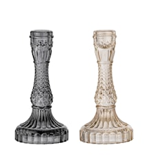 Ljusstake Royalglas Svart/Vit