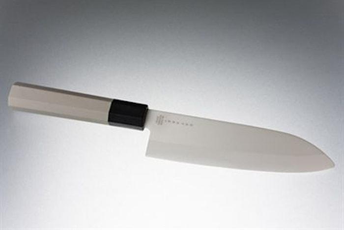 Keramisk kokkekniv 15,5 cm hvit