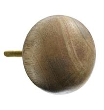 Dörrhandtag Ø 4 cm - Natur/trä
