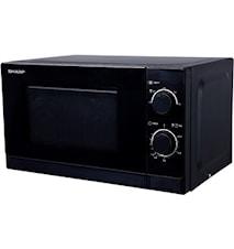 Sharp Mikrovågsugn 20L svart,R200BKW