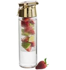 Fresh bottle with fruit piston gold
