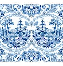 Delft baroque tapet – Blå