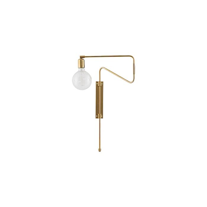 Vägglampa Swing 35cm Mässing
